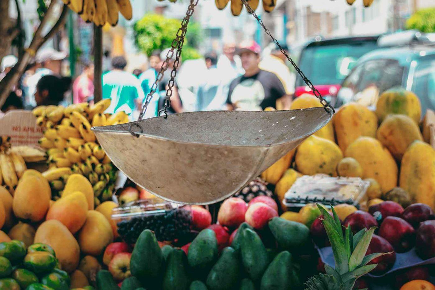 Mercado en Lima Perú