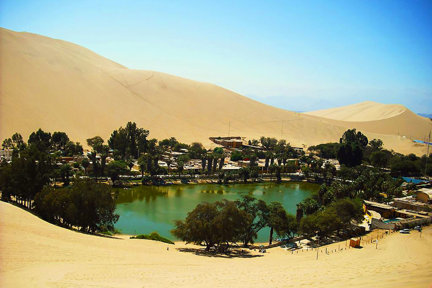 Huacachina Oasis in Ica Peru