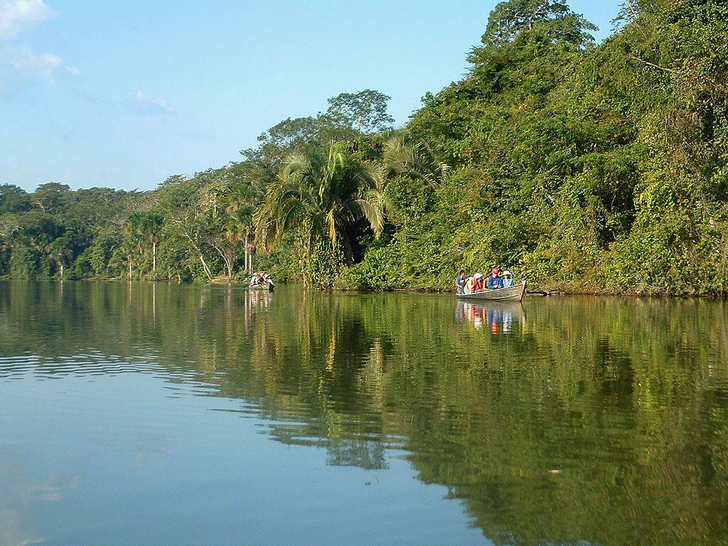 Lake Sandoval in Puerto Maldonado Peru