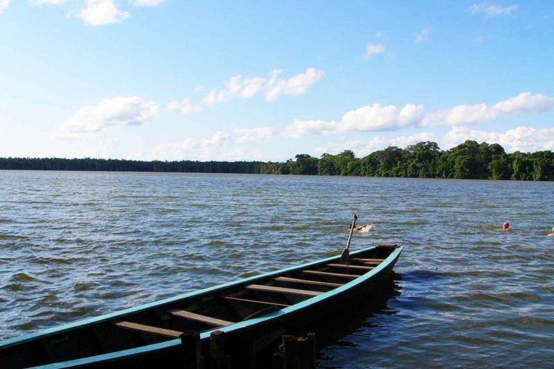 Sandoval Lake in Puerto Maldonado Tambopata Peru