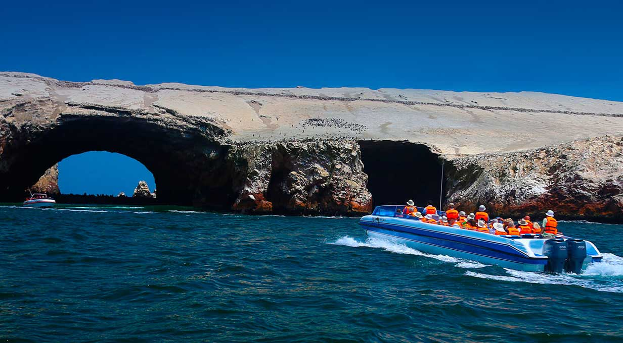 Ballestas Islands in Ica Peru