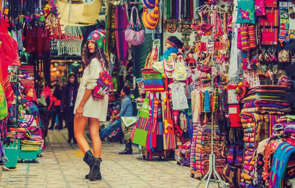 Indian Market in Lima Peru