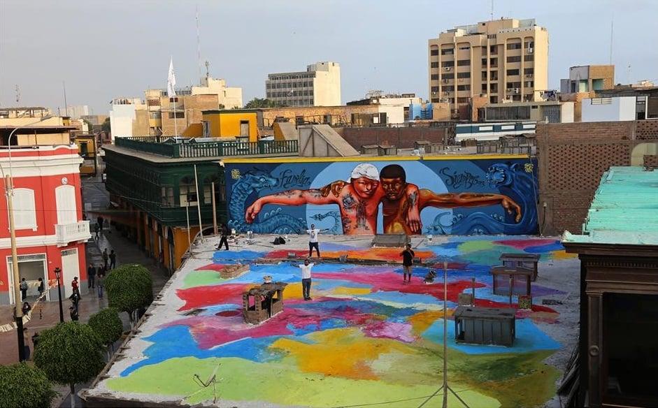 Mural at Callao Monumental