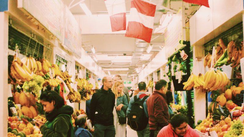 Local Market in Lima Peru